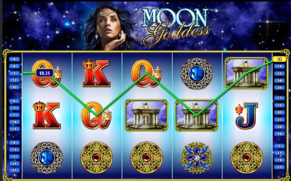 Moon Goddess web pokies review