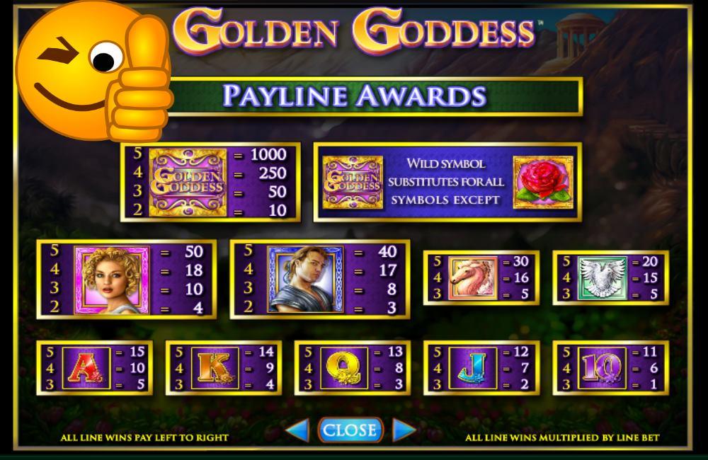 golden goddess free igt slots guide