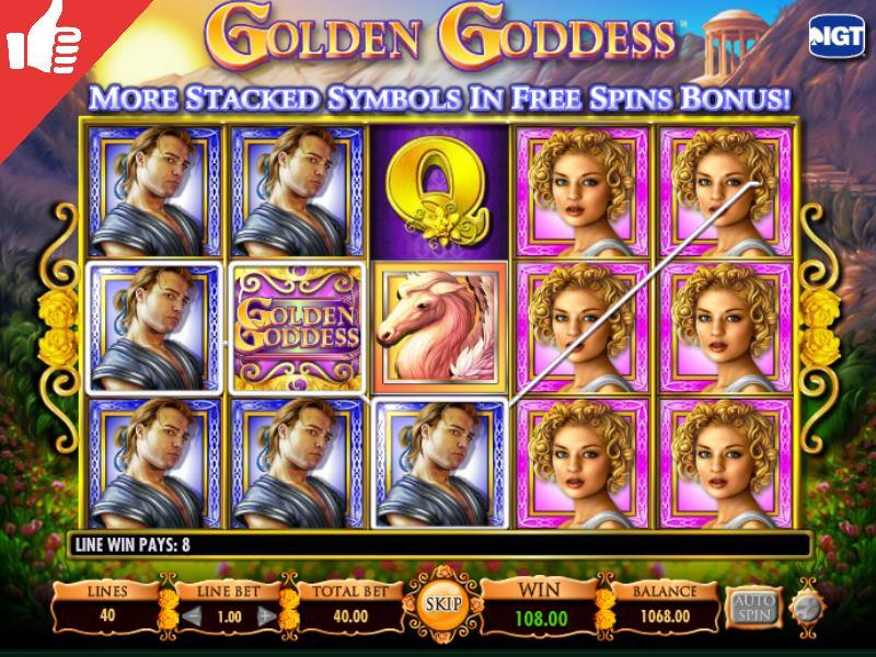 golden goddess igt free pokies