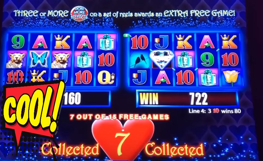 Free Play More Hearts Slot Game by Aristocrat Pokies
