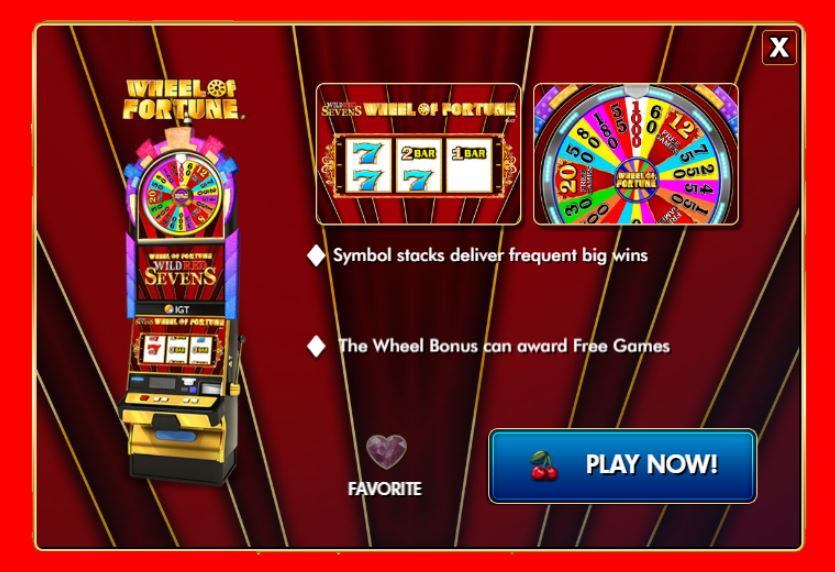 Wheel of Fortune Wild Red Sevens Free IGT Slot Guide