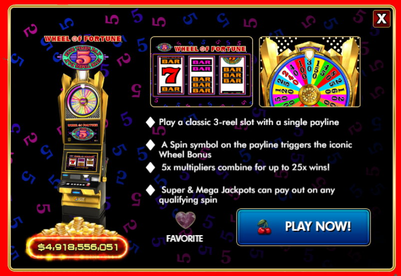 Wheel of Fortune Five Times Free IGT Slot Guide