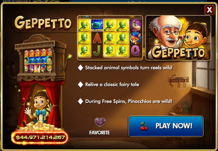 Geppetto Free IGT Slot Game Guide