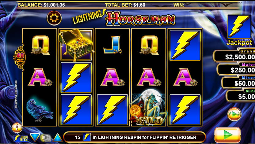 Lightning Horseman Free Pokies Game Guide